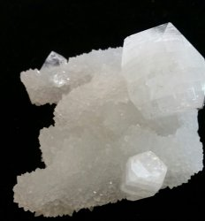 Apophyllite Crystal on Quartz