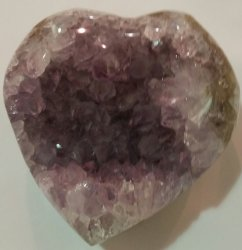 Amethyst Heart Polished