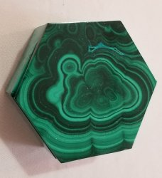 Malachite Hexagonal Decorative Box with Lid