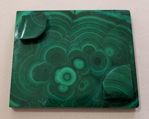 Image 1 of Malachite Rectangular Decorative Box with Lid