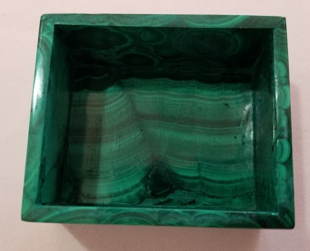 Image 2 of Malachite Rectangular Decorative Box with Lid