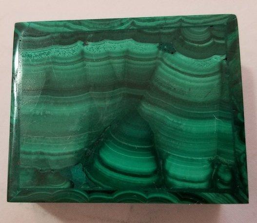 Image 3 of Malachite Rectangular Decorative Box with Lid