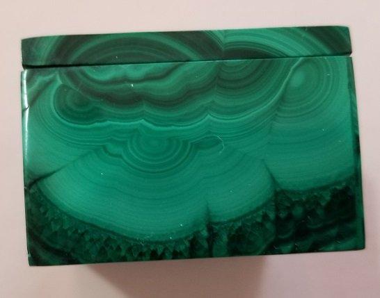 Image 5 of Malachite Rectangular Decorative Box with Lid