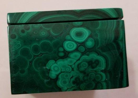 Image 7 of Malachite Rectangular Decorative Box with Lid