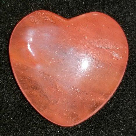 Image 1 of Cherry Quartz Heart