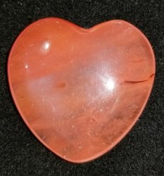 Cherry Quartz Heart