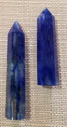 Blueberry Quartz Pillars
