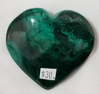 Image 1 of Malachite Heart
