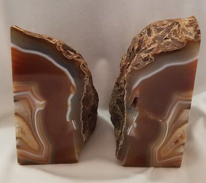 Image 1 of Agate Geode Bookends - Brown