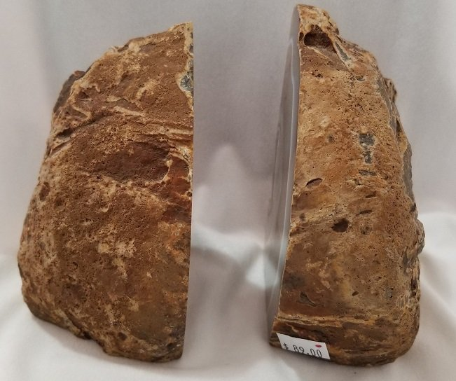Image 3 of Agate Geode Bookends - Brown