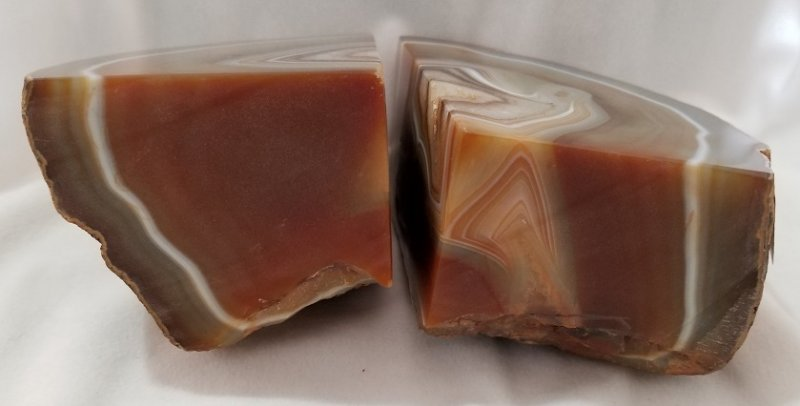 Image 4 of Agate Geode Bookends - Brown