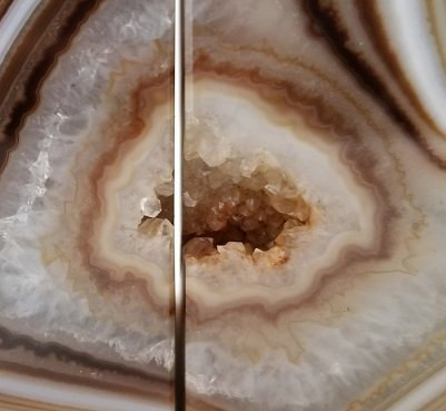 Image 5 of Agate Geode Bookends - Brown