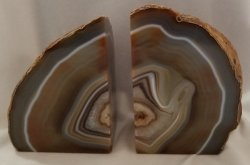 Agate Geode Bookends - Brown