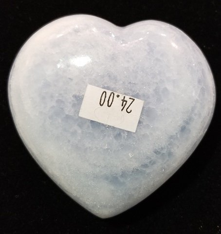 Image 1 of Blue Calcite Heart