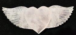 Rose Quartz Winged Heart