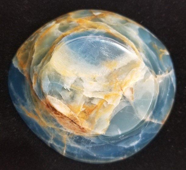 Image 1 of Aquatine blue Calcite Bowl