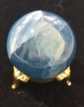Image 1 of Aquatine Blue Calcite Sphere