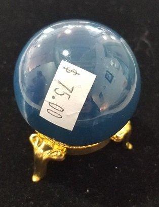 Image 3 of Aquatine Blue Calcite Sphere