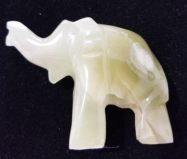 Image 1 of Green Onyx Elephant #1