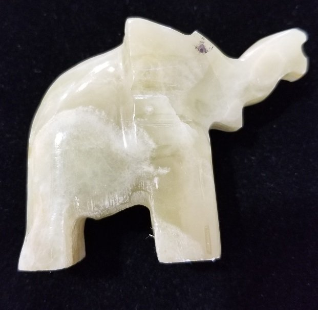 Image 1 of Green Onyx Elephant #2