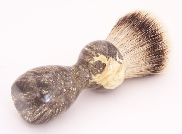 Image 0 of Black Box Elder Burl Wood 24mm Super Silvertip Badger Shaving Brush (B1)