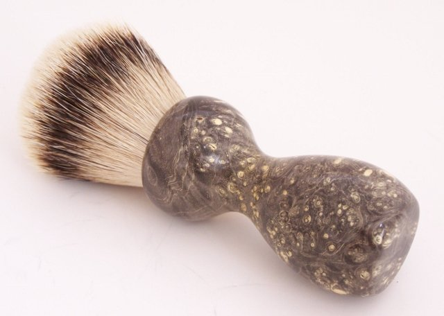 Image 1 of Black Box Elder Burl Wood 24mm Super Silvertip Badger Shaving Brush (B1)