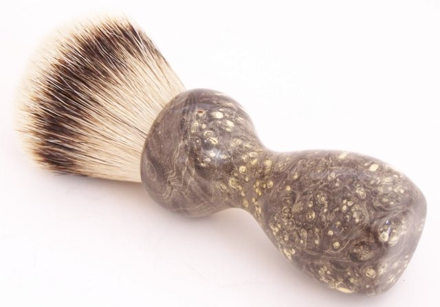 Image 3 of Black Box Elder Burl Wood 24mm Super Silvertip Badger Shaving Brush (B1)