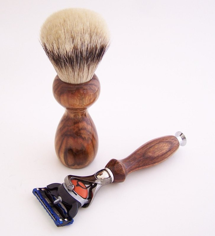Image 1 of Chechen Wood Set:  24mm Super Silvertip, Fusion Flexball & Stand (Handmade) C1