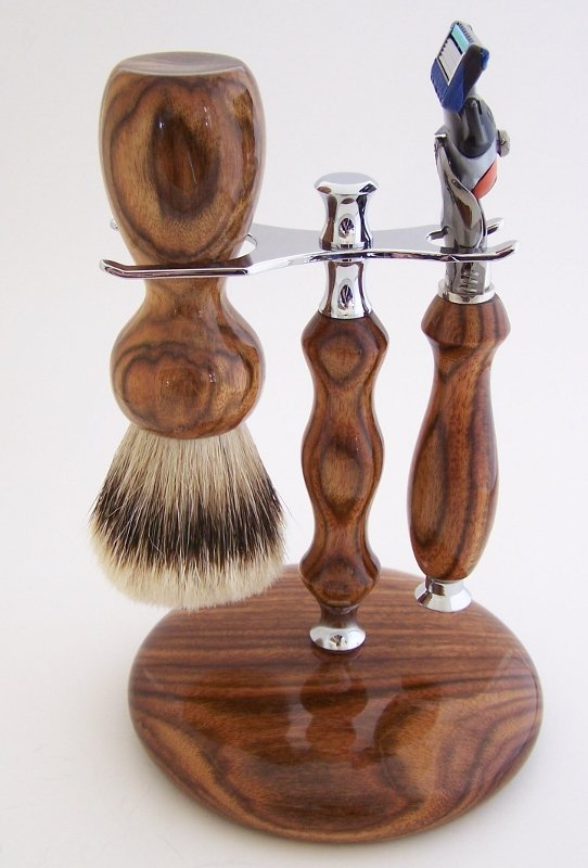 Image 0 of Chechen Wood Set:  24mm Super Silvertip, Fusion Flexball & Stand (Handmade) C2