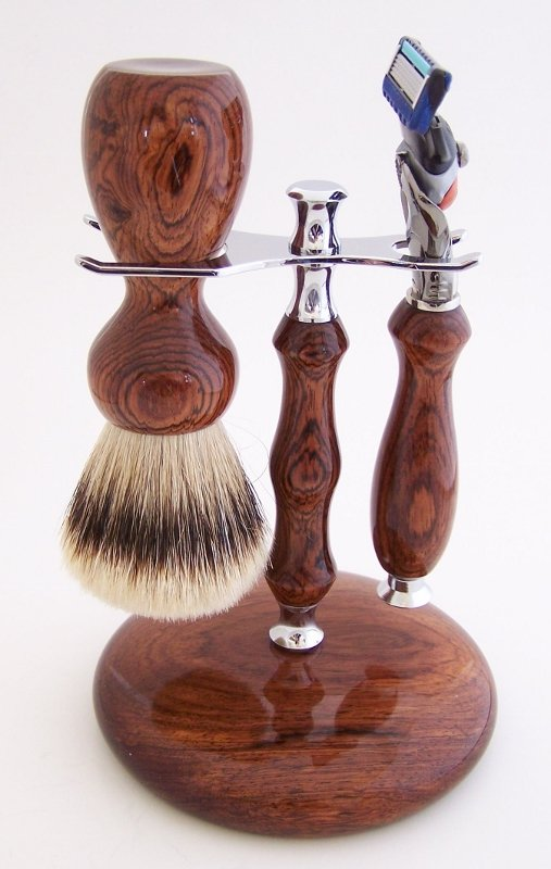 Image 0 of Rosewood Set:  24mm Super Silvertip, Fusion Flexball & Stand (Handmade) R1