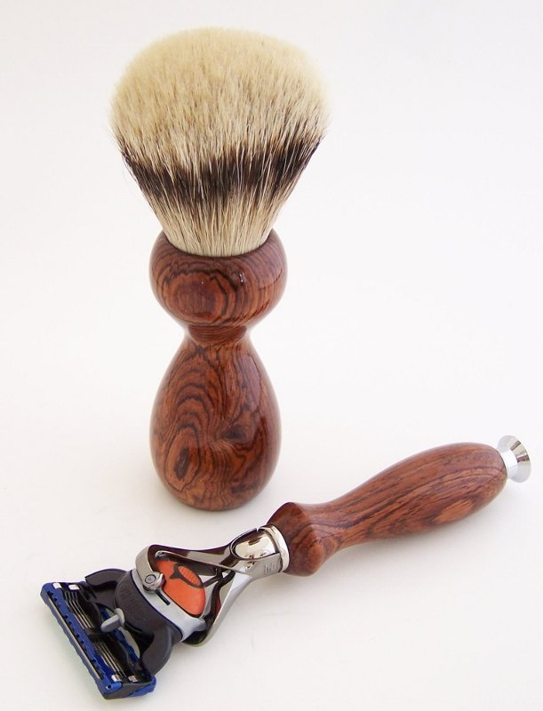 Image 1 of Rosewood Set:  24mm Super Silvertip, Fusion Flexball & Stand (Handmade) R1