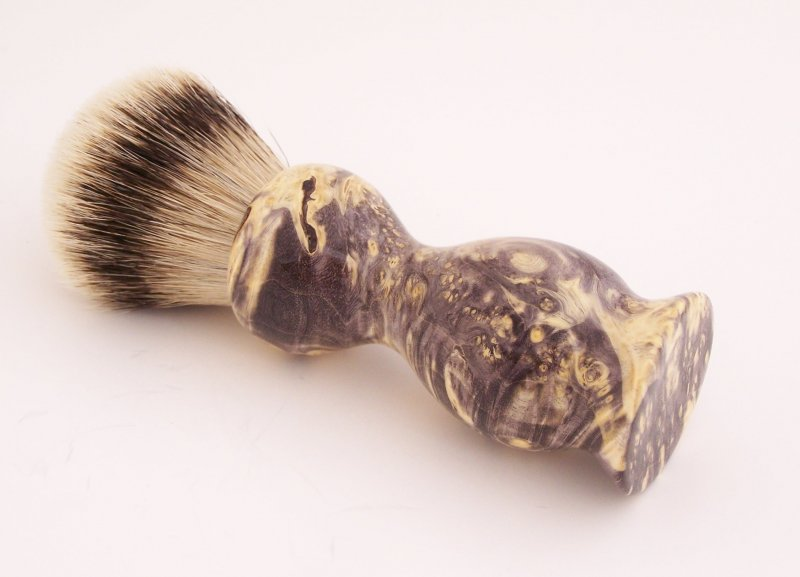Image 0 of Box Elder Wood 22mm Super Silvertip Badger Shaving Brush (Handmade in USA) BEB2