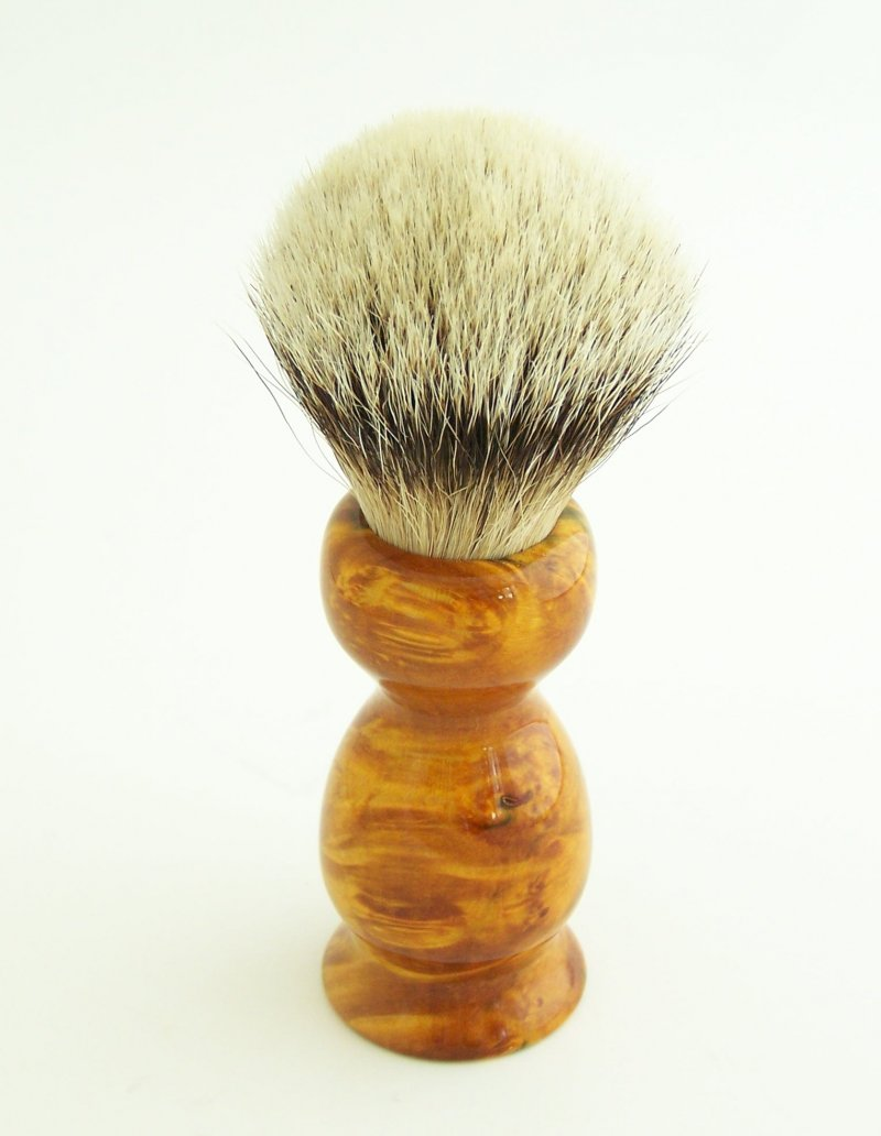 Image 0 of Gold/Amber 20mm Silvertip Badger Shaving Brush (Handmade) BEB10