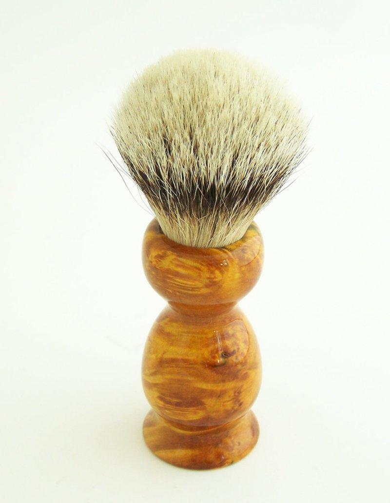 Image 0 of Gold/Amber 20mm Silvertip Badger Shaving Brush (Handmade) BEB10