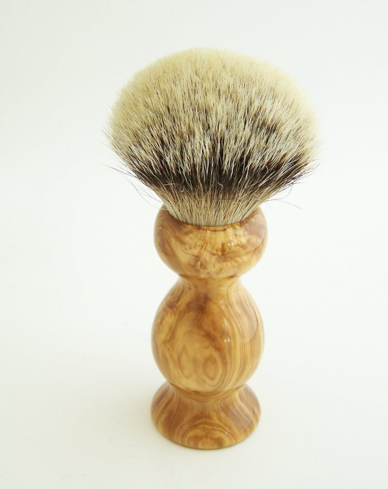 Image 1 of Olivewood 26mm Silvertip Badger Shaving Brush (Handmade) O1