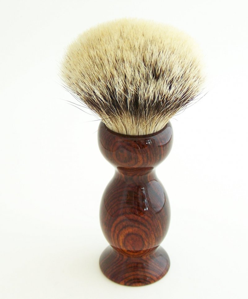 Image 0 of Cocobolo Wood 26mm Silvertip Badger Shaving Brush (Handmade) C1
