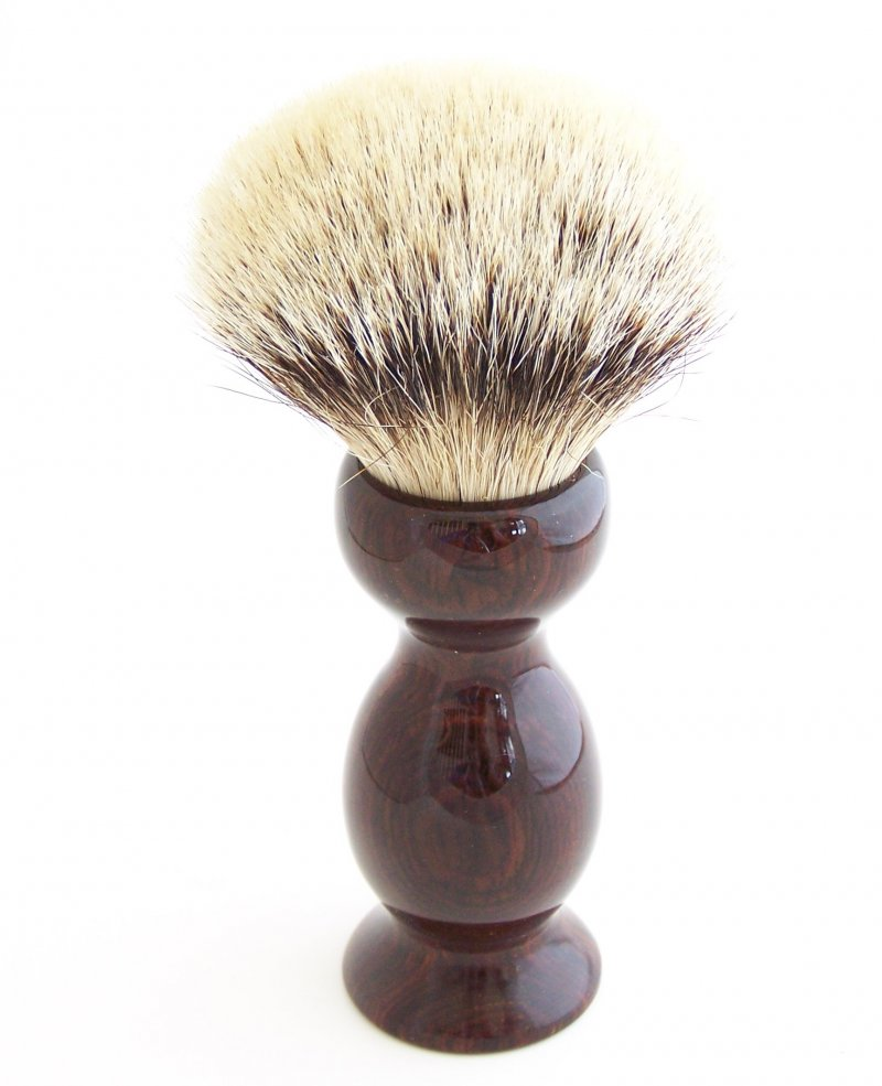 Image 1 of Cocobolo Wood 26mm Silvertip Badger Shaving Brush (Handmade) C1