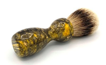 Image 0 of Yellow Box Elder Burl Wood 22mm Super Silvertip Badger Shaving Brush (BEB31)