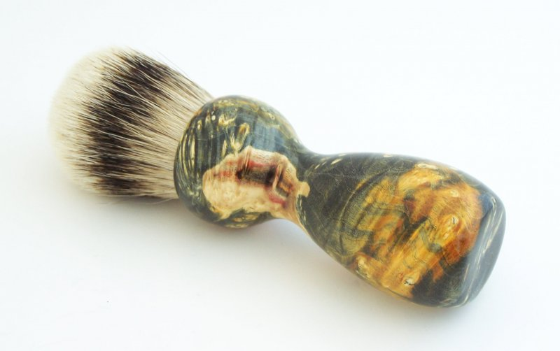 Image 0 of Gold Box Elder Burl Wood 24mm Super Silvertip Badger Shaving Brush (BEB40)