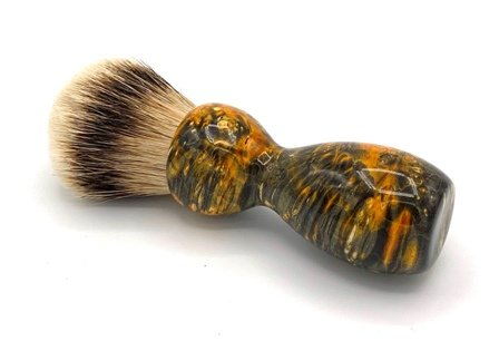 Image 1 of Gold Box Elder Burl Wood 24mm Super Silvertip Badger Shaving Brush (BEB42)