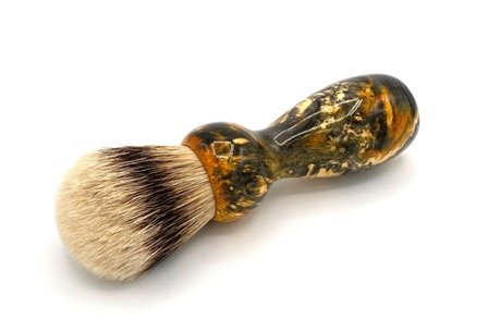 Image 0 of Gold Box Elder Burl Wood 24mm Super Silvertip Badger Shaving Brush (BEB45)