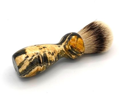 Image 1 of Gold Box Elder Burl Wood 24mm Super Silvertip Badger Shaving Brush (BEB45)