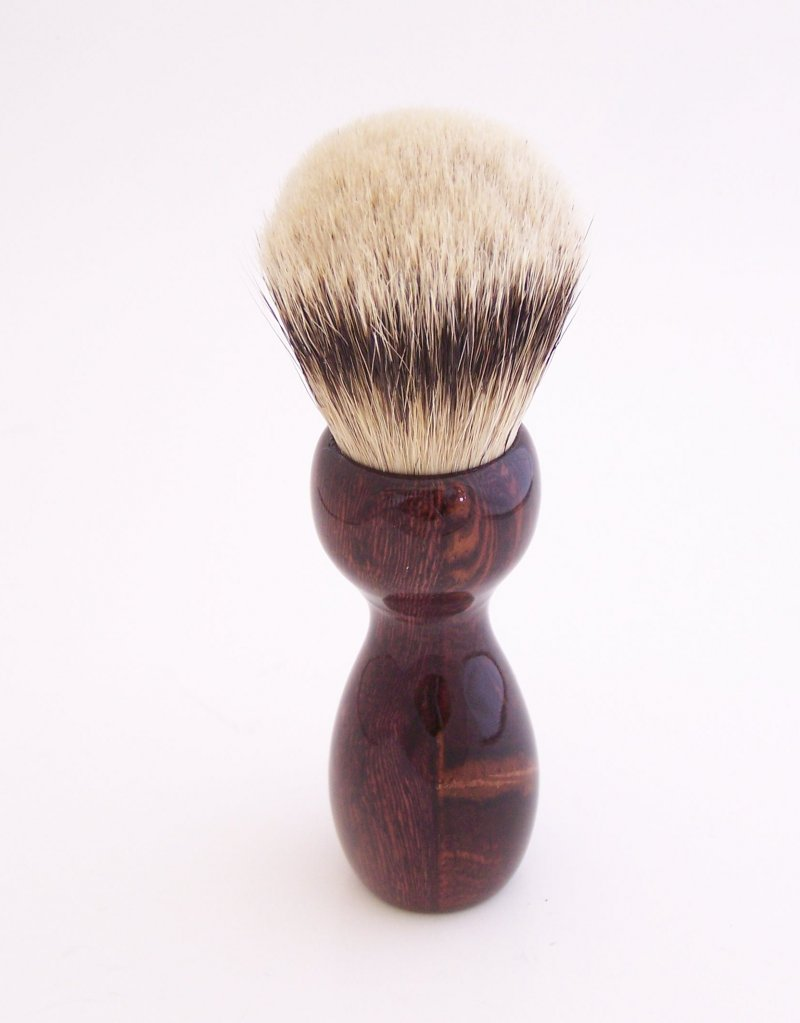 Image 2 of Camatillo Rosewood 24mm Super Silvertip Shaving Brush (Handmade in USA)  C1