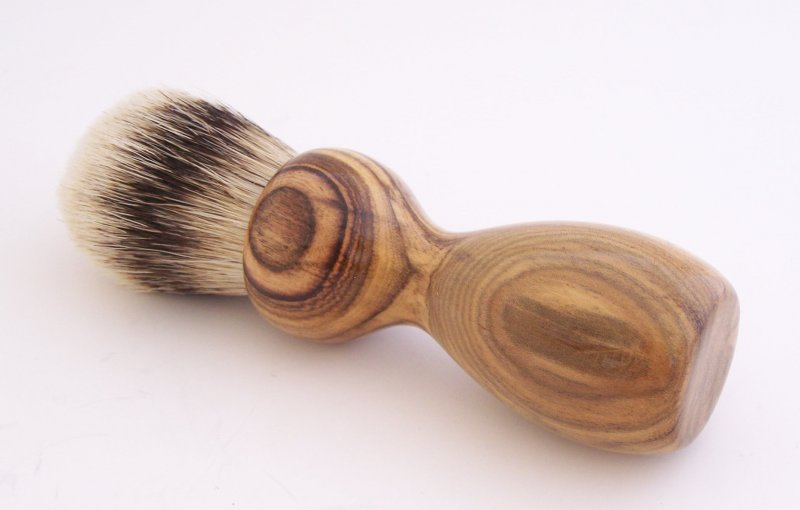 Image 0 of Pistachio Wood 24mm Super Silvertip Shaving Brush (Handmade in USA)  P1