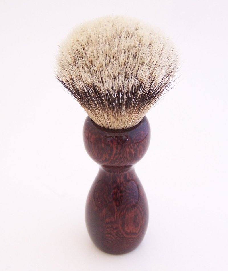 Image 2 of Camatillo Rosewood 20mm Silvertip Badger Shaving Brush (Handmade) C3