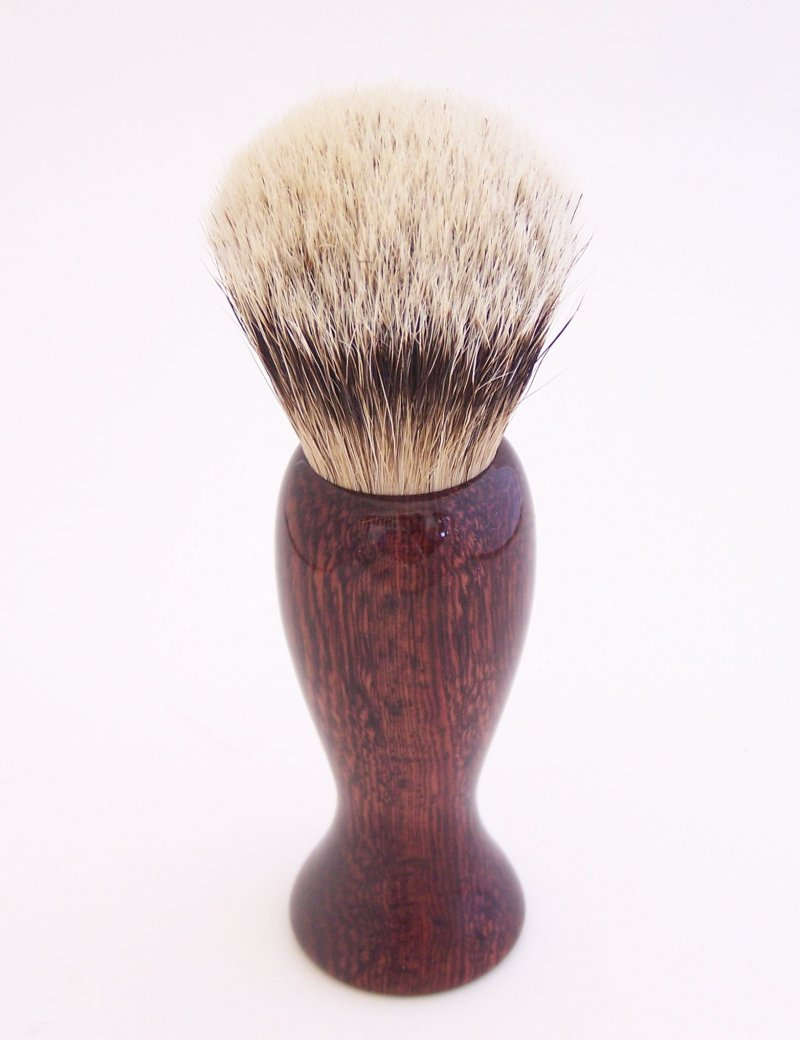 Image 0 of Camatillo Rosewood 20mm Silvertip Badger Shaving Brush (Handmade) C4