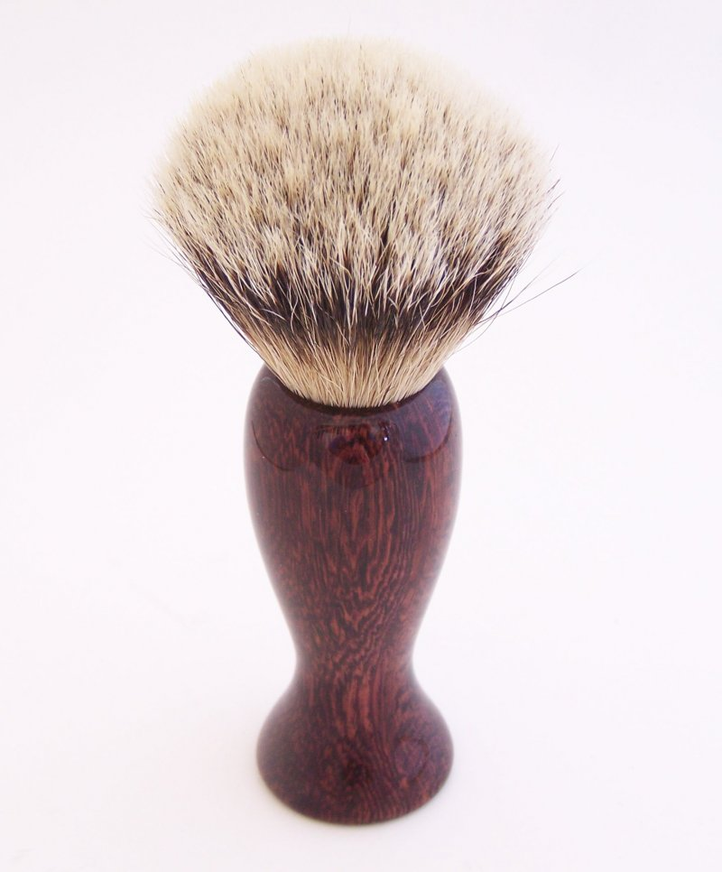 Image 1 of Camatillo Rosewood 20mm Silvertip Badger Shaving Brush (Handmade) C4