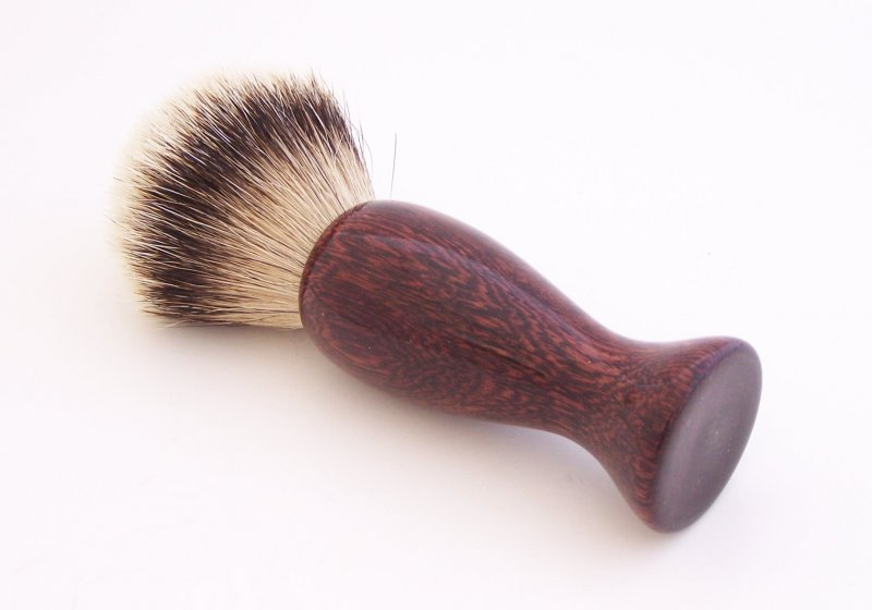 Image 2 of Camatillo Rosewood 20mm Silvertip Badger Shaving Brush (Handmade) C4