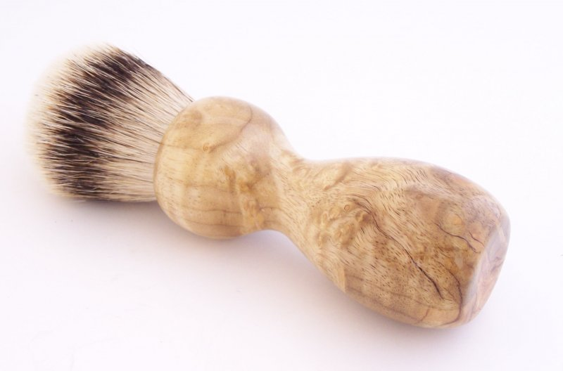 Image 0 of Cottonwood Burl Wood 24mm Silvertip Badger Shaving Brush (Handmade in USA) C1