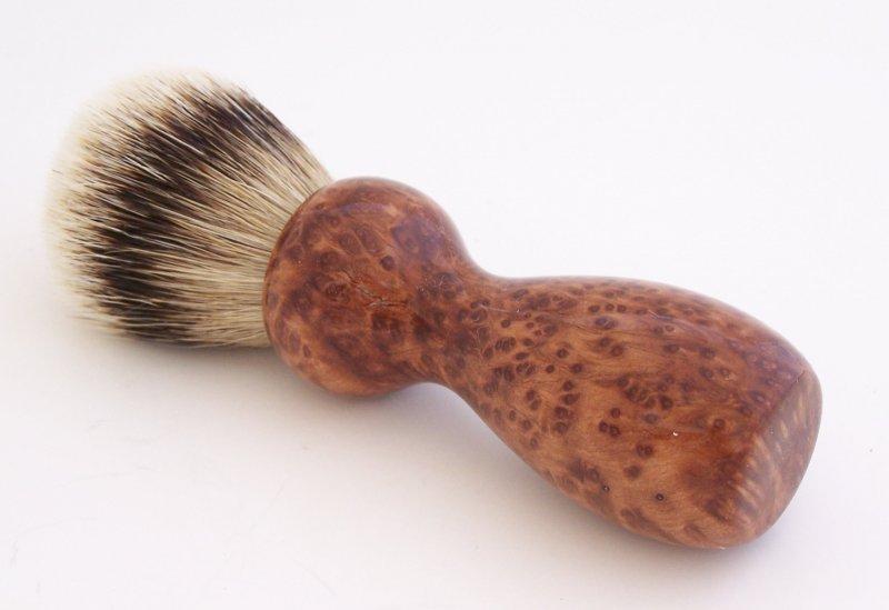 Image 0 of Redwood Burl 20mm Silvertip Badger Shaving Brush (Handmade) R1